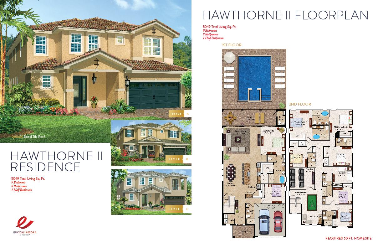 9 Bedroom Homes - Hawthorne-II Residence