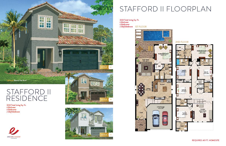6 Bedroom Homes - Stafford II Residence