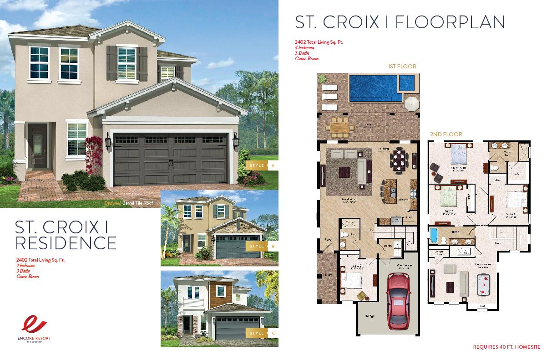 4 Bedroom Homes - St. Croix I Residence