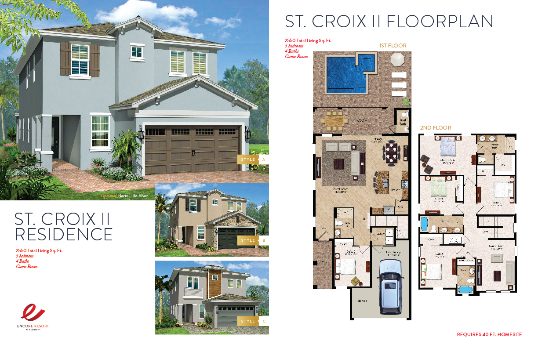 5 Bedroom Homes - St. Croix II Residence